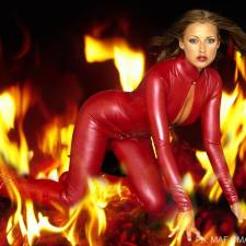 Model : Nikky Kidd Photographer : Mike Fieldhouse Stylist : Robin Easterby Hair & Make up : Sally Cairns Post Production : Simon Terrey Catsuit : House of Harlot Boots : Fantasy Footware